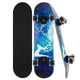 Skateboard Komplett Board 79x20cm Holzboard ABEC-7 Kugellager 31...