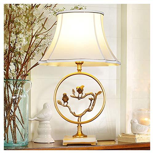 Lámpara de mesa LED, lámpara de escritorio, protección ocular, luz de lectura en la cama, lámpara de mesa, país americano, cobre, moderna y minimalista, lámpara de mesa