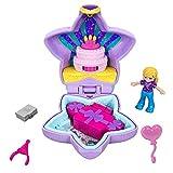 Polly Pocket Mini-Coffret mauve Joyeux Anniversaire Polly, 1 mini-figurine et accessoires, jouet enfant, GFM53