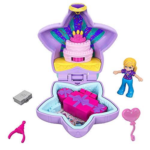 Polly Pocket Il Compleanno Di Polly, con Bambola Mini e Accessori, Giocattolo per Bambini 4+ Anni, GFM53