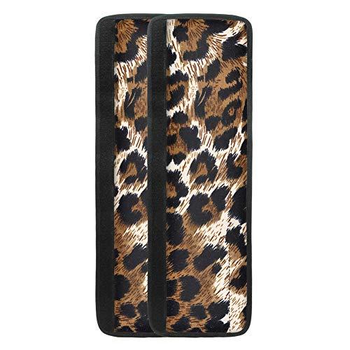 TOADDMOS Leopard Kühlschrank-Türgriffabdeckungen, Küchengeräte, Dekorschutz, Kühlschrank, Mikrowelle, Geschirrspüler, Türtuch, antistatisch, schmutzabweisend, 2 Stück