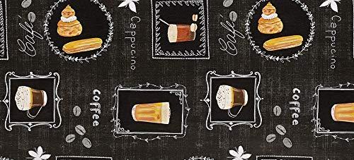 PVC Tischdecke Verona schwarz Wachstuch • Eckig • Länge & Breite wählbar • abwaschbare Tischdecke, Größe:140 x 220 cm