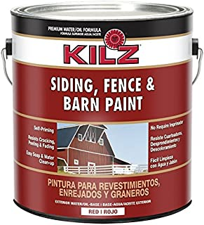 KILZ Exterior Siding, Fence, and Barn Paint, Red, 1-gallon