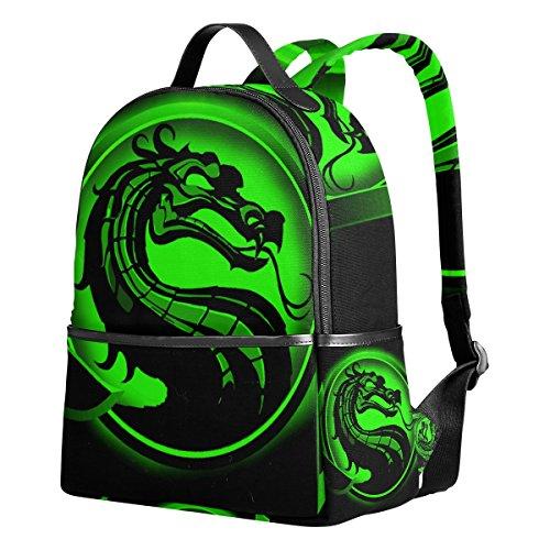 Dragon Print 1 Unisex Rucksack Canvas Satchel Casual Daypack,School College Student Backpack