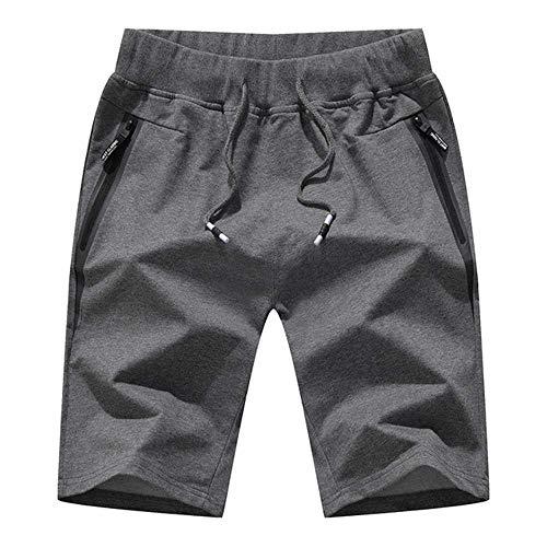MCSZG Pantaloncini da Uomo Pantaloncini di Cotone da UomoPantaloncini da Uomo Pantaloncini Casual Maschili Traspiranti Pantaloni Corti da Uomo Bermuda da Spiaggia Corti