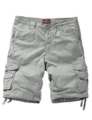 Match Men's Twill Comfort Cargo Short Without Belt #S3612 (Label Size 3XL/38 (US 36), Light Gray)