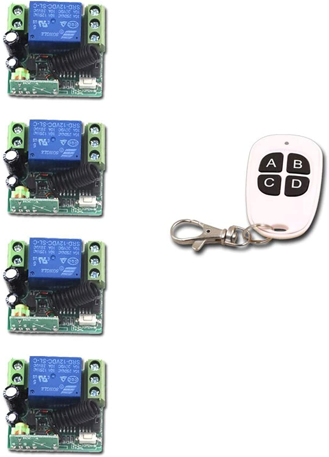 Wireless Remote Control Switch DC 12V 1CH 1 CH 10A Mini Relay Receiver Light LED Switch Transmitter Receiver 315Mhz 433Mhz  (color  433Mhz)