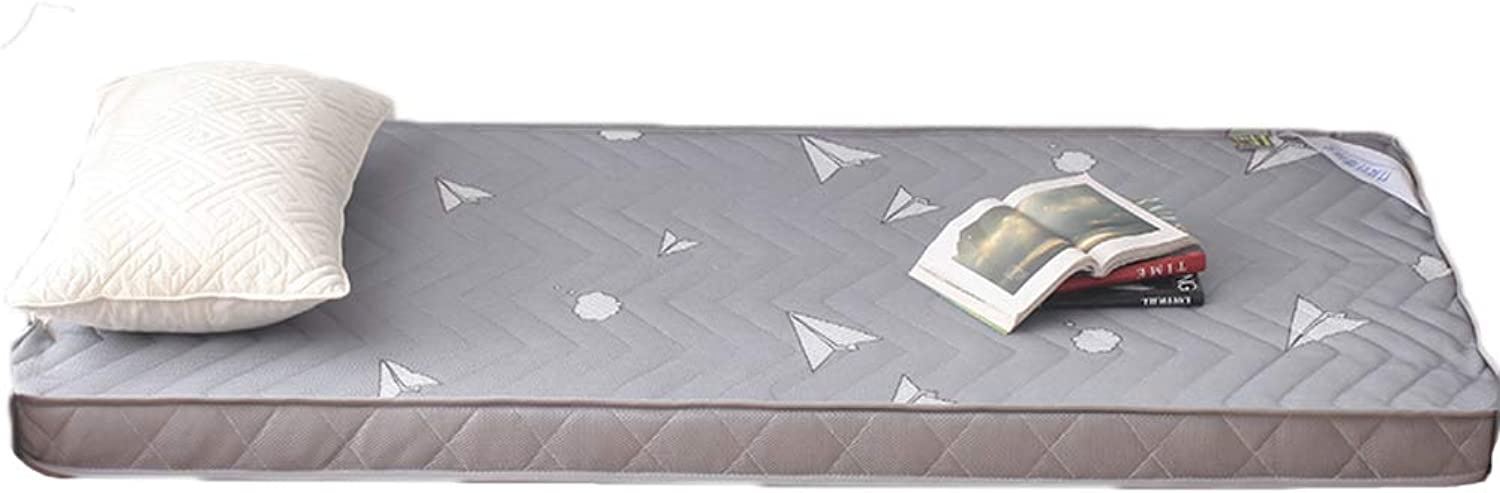 Breathable Mesh Fabric Mattress, Cotton Quilted Design Folding Mattress Soft Thick Bed Sleep-A 90x190cm H 6.5cm