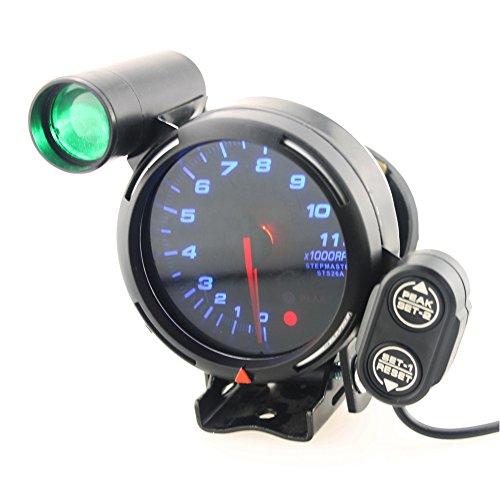 DEWIN Medidor de tacómetro - Tacómetro para automóvil 3.75 Pulgadas 12V Kit de medidor de tacómetro para automóvil 11000 RPM LED Azul con luz de Cambio