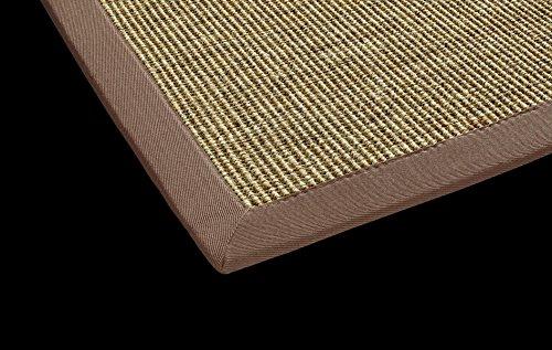 DEKOWE Sisal Küchen Teppich Mara auch fürs Esszimmer oder Flur geeignet (80 x 150 cm, 002 nuss)