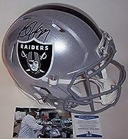 Bo Jackson Autographed Hand Signed Riddell Los Angeles Raiders Speed Full Size Authentic Pro Football Helmet - BAS Beckett