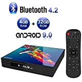 Android TV Box,A95X R3 Android 9.0 TV Box 4GB RAM/32GB ROM RK3318 Quad-Core Soporte 2.4Ghz/5.0Ghz WiFi 4K HDMI BT4.2 DLNA 3D Smart TV Box