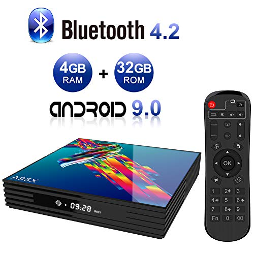 Android TV BOX,A95X R3 Android 9.0 TV BOX 4GB RAM/32GB ROM RK3318 Quad-Core Supporto 2.4Ghz/5.0Ghz WiFi Bluetooth 4.2, 4K HDMI DLNA 3D Smart TV BOX
