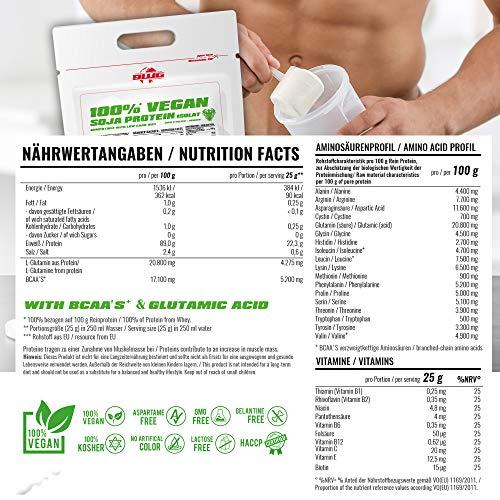 BWG 100% Soja Isolat Protein, Proteinshake, Muscle Line, Vanilla, 1er Pack (1 x 2500g Beutel) - 5