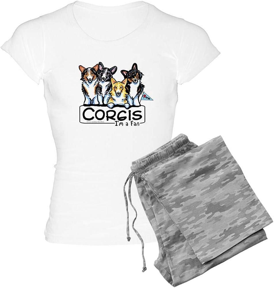 CafePress Corgi Fan Women's 正規品 Light テレビで話題 Pajamas PJs