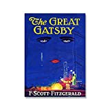 Canvas Mural Frameless Great Gatsby Poster F Scott Fitzgerald Book Cover Print Nordic Cnavas Painting Wall Pictures for Living Romm Home Decor No Frame Art Paintings
