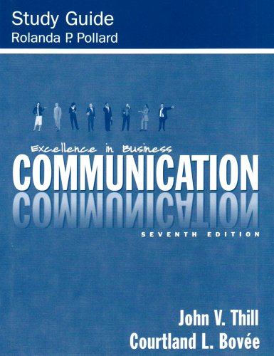 Study Guide - Excellence in Business Communication