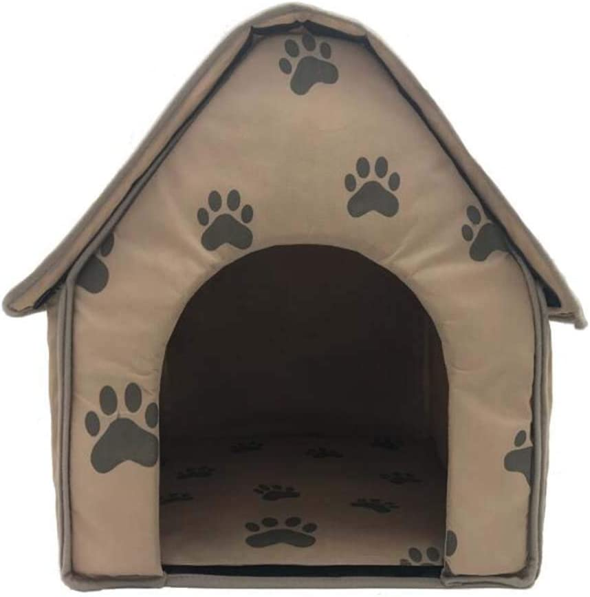 KEDUODUO Brown House Small Footprints D Hut Collapsible Doghouse National uniform free Special price for a limited time shipping