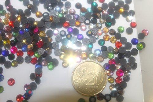 200 Strass Multicolores Hotfix s20 Multicolor 40 Couleurs à Repasser 4,3mm