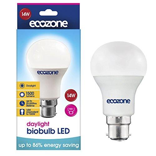 Ecozone LED'Biobulb luz ahorro de energía bombilla, B22, 14W