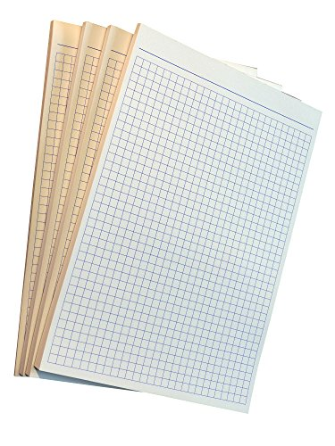 8x Notizblocks kariert in BLAU - Notizen - 50 Blatt, DIN A5, 50 Blatt, Qualitäts-Offset-Papier 80g/m² (22364)