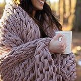 Berkshire Blanket Chunky Double Knit Luxury Soft Cozy Throw Blanket, Pearl Grey, 50' x 60'