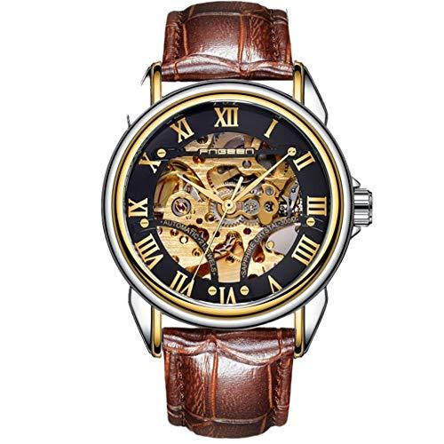 Relojes De Pulsera,Maquinaria Automatizada Reloj Hollow Moda Ocio Reloj Impermeable para Hombres...