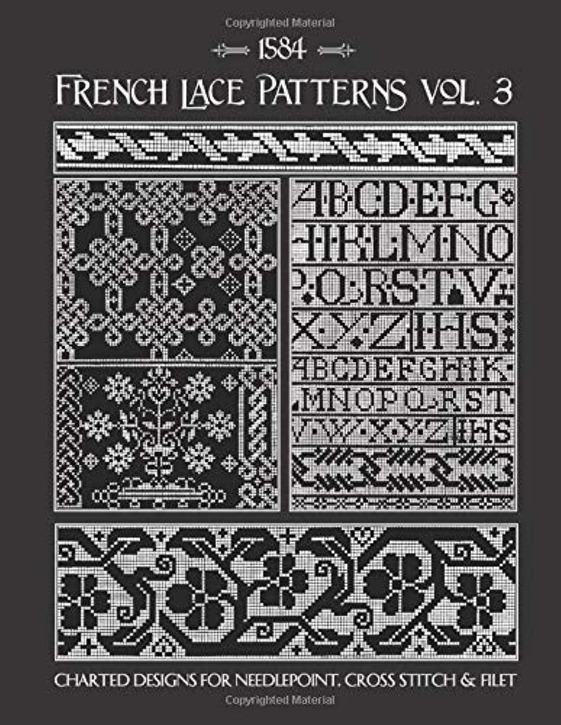 トーナメントワックス散歩に行くFrench Lace Patterns Volume 3: 16th Century Charts for Needlepoint & Counted Cross Stitch