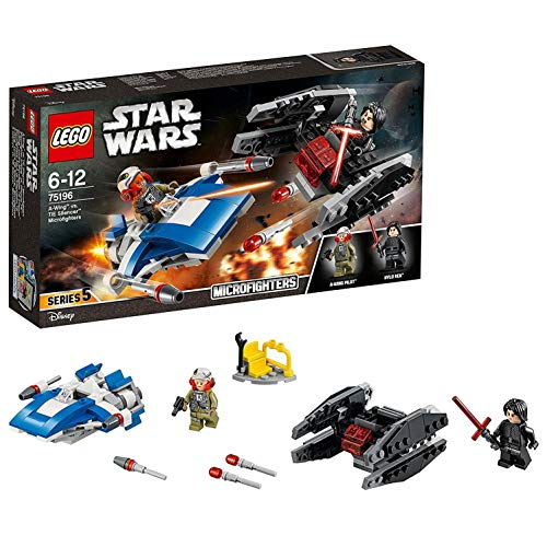 LEGO Star Wars-A- Wing vs Tie Silencer Microfighters Episode VIII Star Wars Juego de Construcción, Multicolor, única (75196)