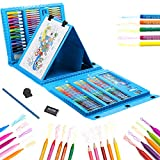 208 Pieces Art Set Kids Art Supplies Coloring Case Kit Painting & Drawing Sets for Teens Boys Girls Gifts Toys Age 4 5 6 7 8 9