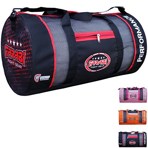 Farabi Kit bag Mesh Lightweight Gym Training Bag Air Mesh for Air Ventilation (Black)