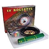 zhiwenCZW Set da Gioco da Roulette da 10 Pollici con fiches da Poker in tovaglia per Il Gioco Borad Bar Party