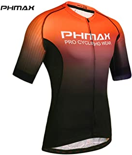 Cycling Jerseys Short Sleeve Cycling Clothing MTB Bike Clothing Summer Road Bicycle Jerseys Men S Cycling Uniform Makfacp (Color : Orange, Size : XXXL)