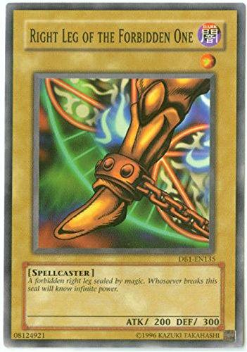 Yu-Gi-Oh! - Right Leg of The Forbidden One (DB1-EN135) - Dark Beginnings 1 - Unlimited Edition - Common