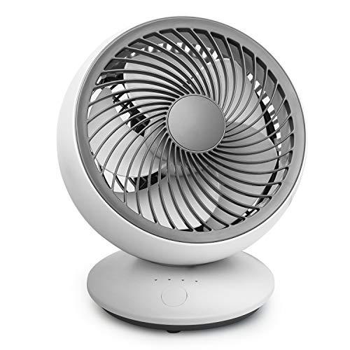 Ventilatore Da Scrivania USB Ventilatori A Parete Silenziosi Ventilatore Da Tavolo Oscillante, 5 Pale, Ventola Di Raffreddamento A 3 Velocità Per Ufficio Domestico...