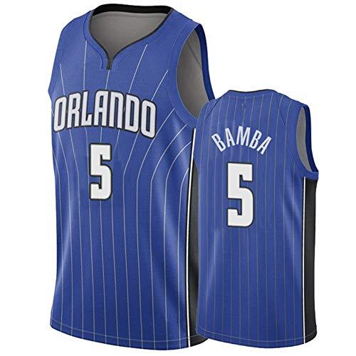 Traje De Baloncesto Legend para Hombre/Orlando Magic 5# Mohamed Bamba Jerseys Camiseta...