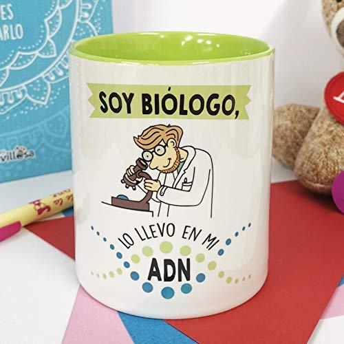 La mente es Maravillosa - Taza Frase y Dibujo Divertido (Soy biólogo, lo llevo en mi ADN) Regalo BIÓLOGO