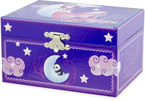 Ulysse- Coffre Musical Panda Bijoux, 9535, Bleu Nuit