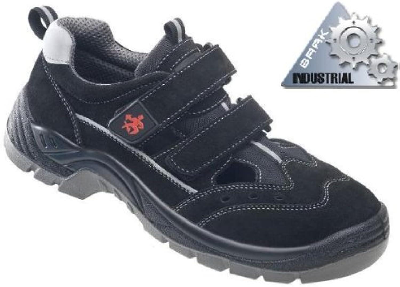 BAAK Sicherheitsschuhe Henry Industrial S1P Sicherheitssandalen BGR191 Gre 37, schwarz, 8424