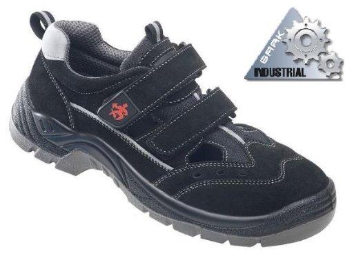 BAAK Sicherheitsschuhe Henry Industrial S1P Sicherheitssandalen BGR191 Größe 40, schwarz, 8424