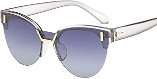 LUKEEXIN Sunglasses Two-Tone Reflective Lens Classic Frame Unisex Protective Lens (Color : White)