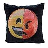 Mermaid Sequin Pillow Case,SNUG STAR Reversible Emoji Cushion Cover Changeable Face Pillowcases DIY
