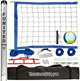High Strength Portable Volleyball Net System with Volleyball and Pump