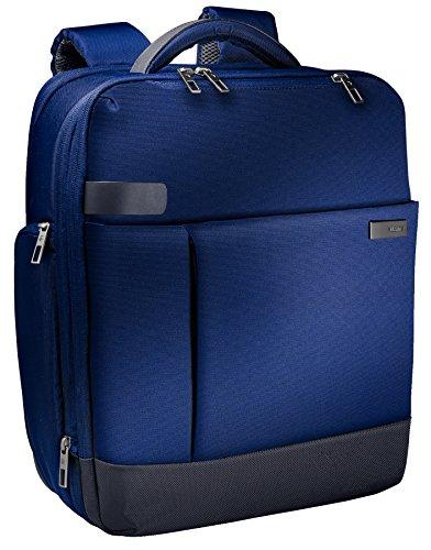 Leitz, Leichter und erweiterbarer Business-Rucksack, Für 15.6 Zoll Laptop oder Ultrabook, Smart Traveller, Complete, Titan Blau, 60170069