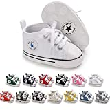 Meckior Baby Girls Boys Canvas Shoes Soft Sole Toddler First Walker Infant High-Top