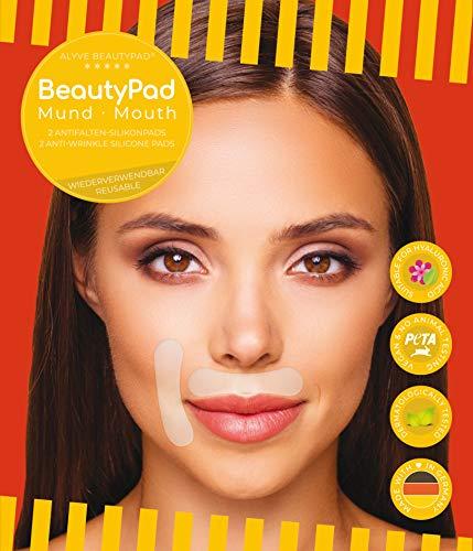 Alyve BeautyPad® Mund Anti Falten Silikon Pads | Gesicht, Oberlippe, Nasolabial | wirken schnell, hautfreundlich, wieder verwendbar | 2 Stk.