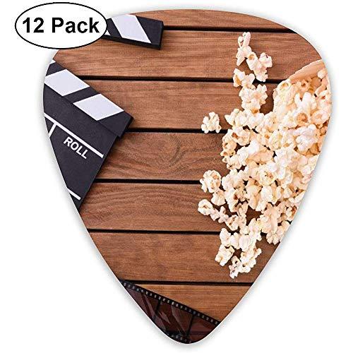 Gitarren Plektren Movie Board Tape Popcorn Custom Abs Gitarren Plektren für Bass,Elektro und Akustikgitarren-12 Pack