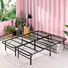 ZINUS SmartBase Tool-Free Assembly Mattress Foundation / 14 Inch Metal Platform Bed Frame / No Box Spring Needed / Sturdy Steel Frame / Underbed Storage, Queen
