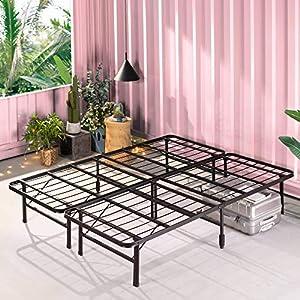 ZINUS 35 cm Base para colchón sin montaje SmartBase   Estructura de cama metálica   Montaje sencillo   Almacenamiento debajo de la cama   150 x 190 cm   Negro