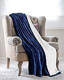 Utopia Bedding Couverture Plaid Peluche Effet Mouton Réversible (200 x 150 cm) - Couverture de lit Super Chaude - Couverture de...